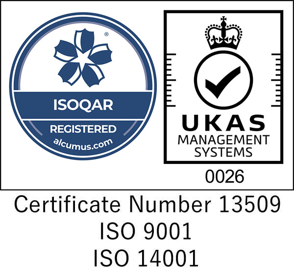 Certificate Number 13509 ISO 9001:2015 ISO 14001:2015